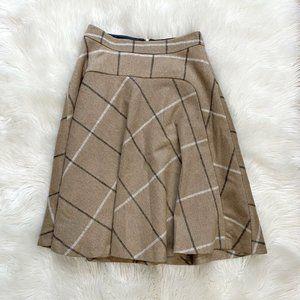 Zara wool blend a-line flare skirt
